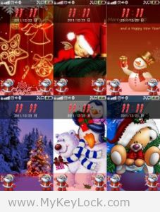 圣诞主题《圣诞快乐》-MyKeyLock滑动解锁主题包下载