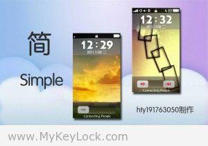 【简】→简约时尚-MyKeyLock滑动解锁主题包下载1