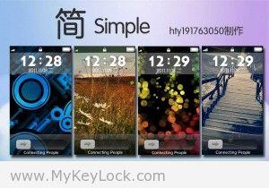【简】→简约时尚-MyKeyLock滑动解锁主题包下载2