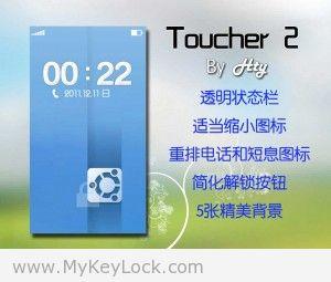 【Toucher 2】两款-MyKeyLock滑动解锁主题包下载1