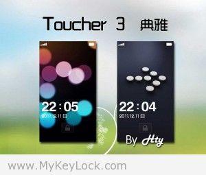 【Toucher 3】-MyKeyLock滑动解锁主题包下载2