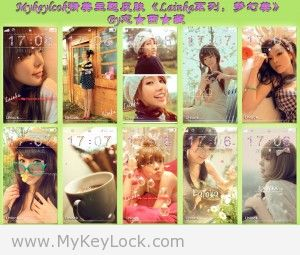 《Lainka系列,梦幻美》mykeylock主题包下载