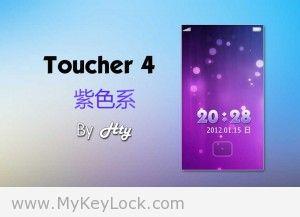 【紫色系】Toucher 4 by hty-MyKeyLock滑动解锁主题包