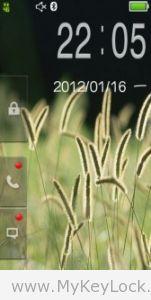 【绿意MX点击解锁(1)】-MyKeyLock滑动解锁主题包下载