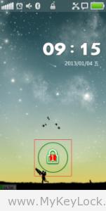 【简约星空】-MyKeyLock滑动解锁主题包下载